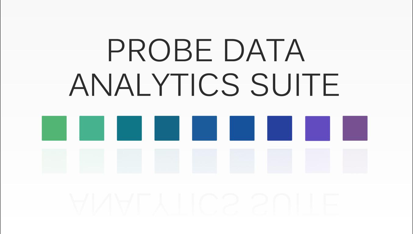 Probe Data Analytics Suite CATT Lab